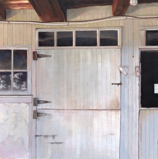 <strong>Barn Door, Bedminster</strong><br />Oil on linen<br /><br /><br /><br />