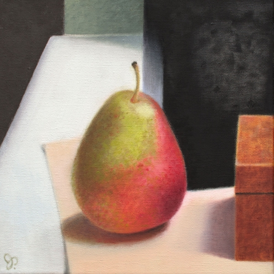 <strong>Box, Box, Pear</strong><br />Oil on Canvas<br /><br /><br /><br />