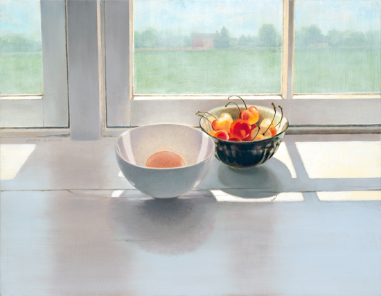 <strong>Egg and Fruit</strong><br />Oil on Linen<br />the Alan Fetterman Award for Best Oil Painting, Nova Show<br />SOLD<br /><br />