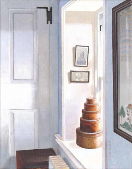 <strong>Shaker Boxes</strong><br />Oil on Linen<br />SOLD<br /><br /><br />
